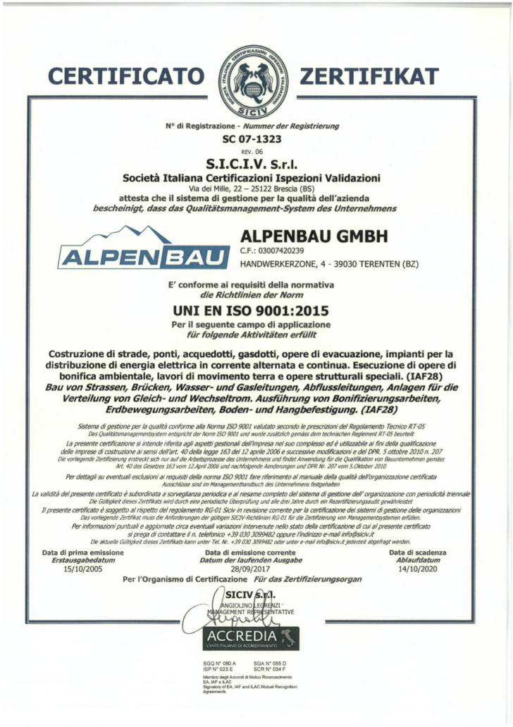 Iso Siciv Zertifikat neu zweisprachig